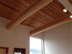 静岡 ヤマヨシホーム 吹抜け 設計 オクシズ 杉 桧 塗り壁 無垢 リフォーム