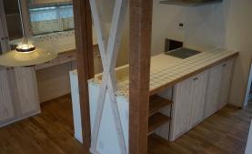 オリジナルキッチン 無垢材利用のママ目線でプランしました